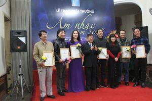 61 công trình và tác phẩm đoạt giải thưởng âm nhạc Hội Nhạc sĩ Việt Nam