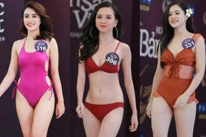 Hình thể gợi cảm của thí sinh Hoa hậu Bản sắc Việt toàn cầu 2019 vòng sơ tuyển phía Bắc