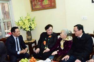 Chủ tịch HĐND TP Nguyễn Thị Bích Ngọc thăm, tặng quà Tết cho các gia đình chính sách