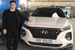 Hyundai SantaFe 2019 biển 'ngũ quý' giá 2,5 tỷ ở Hà Nội