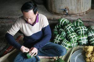 Tết sớm ở 'làng bánh chưng' nổi tiếng nhất Hà Nội