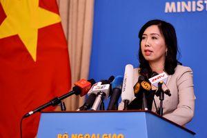 Việt Nam lên tiếng về việc Mỹ-Anh tập trận chung ở Biển Đông