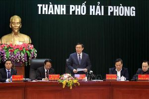 Phó Thủ tướng Vương Đình Huệ khảo sát tình hình đầu tư nước ngoài tại Hải Phòng