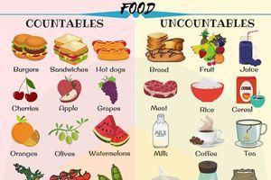 Danh từ chỉ đồ ăn đếm được và không đếm được trong tiếng Anh