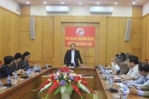Quỹ Môi trường toàn cầu làm việc với UBND tỉnh Quảng Trị