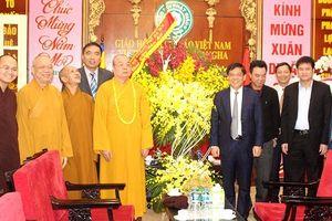 Giám đốc Công an Hà Nội thăm, chúc Tết Trung ương Giáo hội Phật giáo Việt Nam