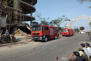 Đà Nẵng: Cháy tại tòa nhà DITP Trung Nam đang xây