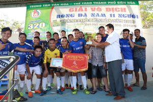FC Anh và Em vô địch giải bóng đá nam 11 người thành phố Biên Hòa