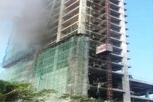 Tòa nhà 18 tầng DITP Tower bất ngờ bốc cháy