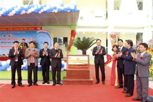 Huyện Gia Lâm gắn biển công trình cấp Thành phố Trường mầm non xã Phù Đổng
