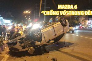 Mazda 6 do tài xế sặc mùi bia rượu lái 'chổng vó' trong đêm