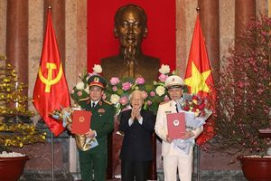Ông Tô Lâm và ông Lương Cường được thăng quân hàm Đại tướng