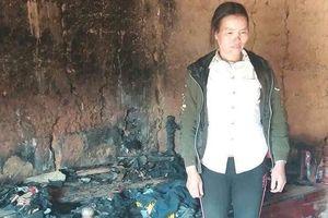 Xót xa cảnh gia đình 3 con bị thiểu năng sát Tết còn cháy nhà