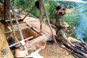 Tuyên Quang: Tiếp tục phát hiện điểm khai thác vàng trái phép ở xã Đạo Viện