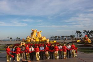 Bình Định: Biểu tượng linh vật năm Kỷ Hợi 2019 thu hút khách tham quan