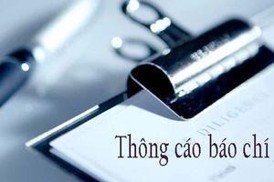 Thông cáo báo chí về sự cố tai nạn lao động tại KCN Tiền Hải, Thái Bình