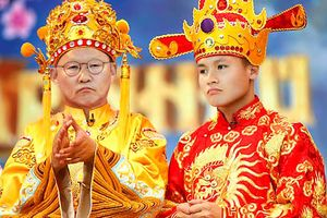 Ảnh chế ông Park làm Ngọc Hoàng, tuyển thủ Việt Nam thành Táo quân