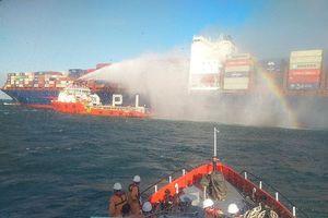 Khống chế thành công đám cháy trên tàu chở hàng của Singapore
