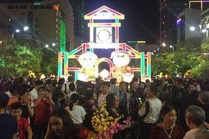 Hàng ngàn người chen chân thưởng thức đường hoa Nguyễn Huệ