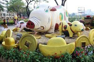 Hình ảnh làng quê tại hội hoa xuân khiến nhiều người 'mê mệt' ở Sài Gòn