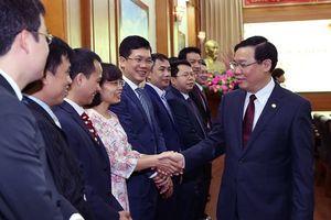 Phó Thủ tướng Vương Đình Huệ thăm, làm việc tại Ủy ban Quản lý vốn nhà nước