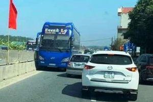 Tước bằng lái tài xế xe khách chạy ngược chiều trên quốc lộ 1 ngày Tết