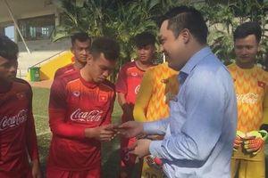 Lãnh đạo VFF đến thăm và chúc Tết đội U.22 Việt Nam
