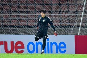 Thủ môn Bùi Tiến Dũng ngồi dự bị trận Hà Nội - Bangkok United