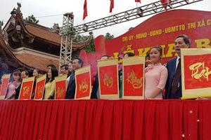 Nghi thức độc đáo tại lễ Khai bút đền thờ Chu Văn An