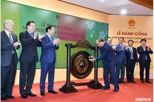Thủ tướng đánh cồng khai trương phiên giao dịch chứng khoán đầu Xuân