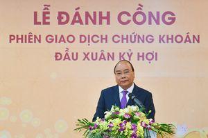Thủ tướng đánh cồng khai trương phiên giao dịch chứng khoán sau Tết