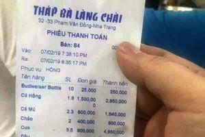 Nhà hàng 'chặt chém' khách ở Nha Trang bị xử phạt 750 nghìn đồng