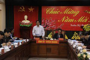 Đồng chí Phạm Minh Chính làm việc với lãnh đạo tỉnh Tuyên Quang