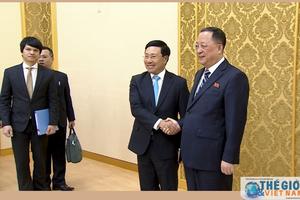 Hoạt động của Phó Thủ tướng, Bộ trưởng Ngoại giao Phạm Bình Minh trong chuyến thăm chính thức CHDCND Triều Tiên