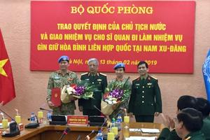 Việt Nam có thêm 'cánh chim hòa bình' tại Nam Sudan