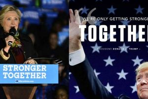 Tổng thống Trump 'nhái' khẩu hiệu tranh cử của bà Hillary Clinton