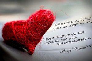 Những lời chúc Valentine bằng tiếng Anh kèm ảnh được dân mạng chia sẻ