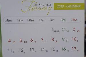 Tháng 2 năm 2019 có bao nhiêu ngày? Ngày đẹp tháng 2 gồm những ngày nào?