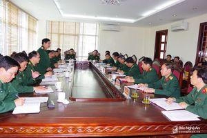 Kiểm tra công tác chuẩn bị đón chiến sĩ mới tại Quân khu 4