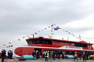 Khai trương tàu thủy cao tốc tuyến Vũng Tàu đi Côn Đảo chỉ còn 3 giờ