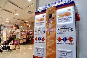 Singapore có ATM 'rút' cá hồi đầu tiên trên thế giới