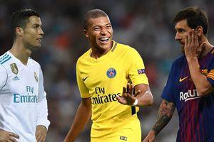 Lionel Messi và Cristiano Ronaldo ở tuổi 20 so với Kylian Mbappe thế nào?
