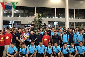 Đội tuyển U22 Việt Nam được chào đón nồng nhiệt ở Campuchia