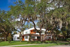 Nhà đẹp yên bình dưới gốc cây cổ thụ cực 'dị'
