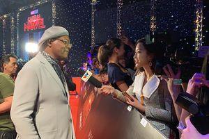 Hoa hậu Đỗ Mỹ Linh xinh đẹp phỏng vấn tài tử gạo cội Samuel L. Jackson