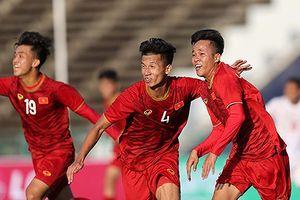 Khoảnh khắc chiến thắng của U22 Việt Nam trước U22 Philippines ở trận ra quân