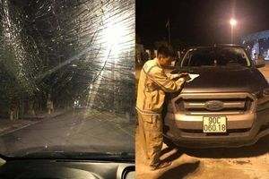 Ô tô bị ném đá vỡ kính trên cao tốc Hà Nội - Hải Phòng