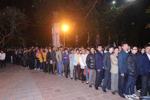 Lễ khai ấn đền Trần: Lực lượng bảo vệ an ninh lên đến 2.300 người