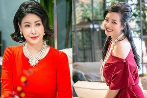 Hà Kiều Anh, NSƯT Chiều Xuân 'đọ' sắc gợi cảm với váy đỏ rực rỡ