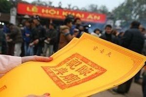 Lễ hội đền Trần 2019 phát ấn từ 5 giờ sáng, không giới hạn số lượng